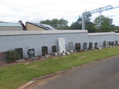 Linlithgow cemetery boundary wall work complete