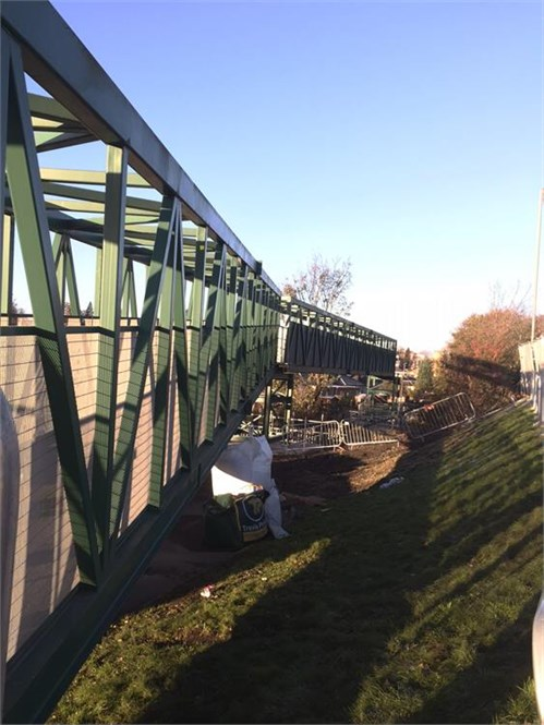 Kerse Road Temporary bridge 1