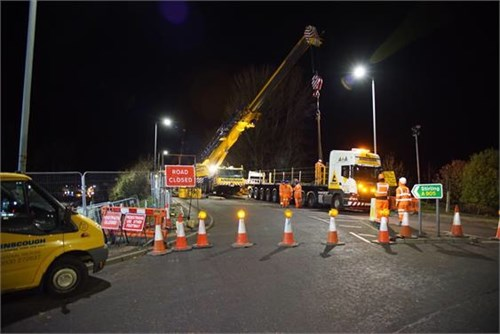 Kerse Road closure bridge works 2