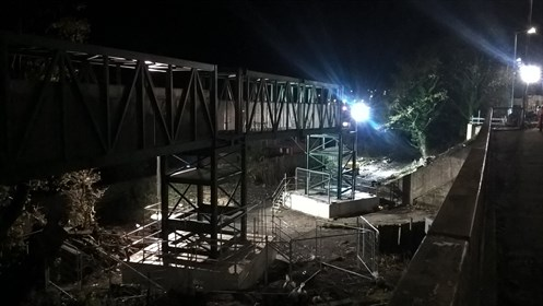Kerse Rd bridge overnight works