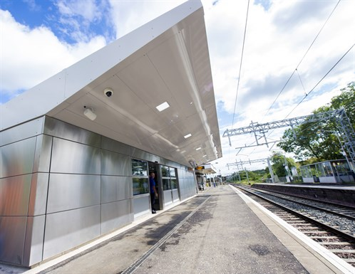 New Cumbernauld Station building delivered as part of line electrification