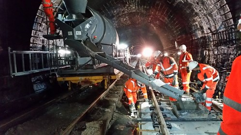 Grouting PORR slabs in Queen Street Tunnel