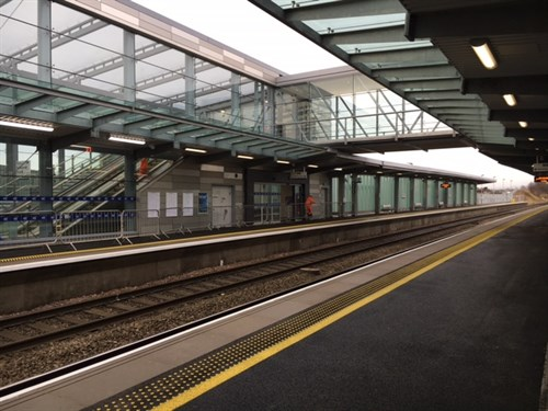 Edinburgh Gateway Bridge from platform
