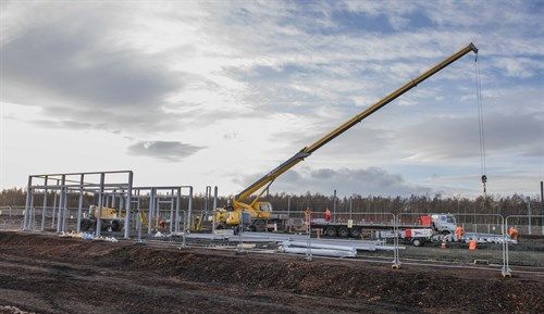 Millerhill train stabling facility takes shape